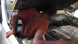 Spanish Police Discover Migrants Hidden in Car