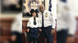 Young Girl Rescued From Under Subway Car Is Made an Honorary NYPD Officer