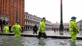 Venice Hit by Another Exceptional High Tide; Worst Week in 150 Years