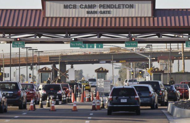 camp pendleton gate