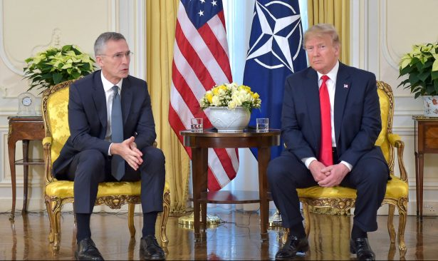 Jens Stoltenberg and Trump at NATO