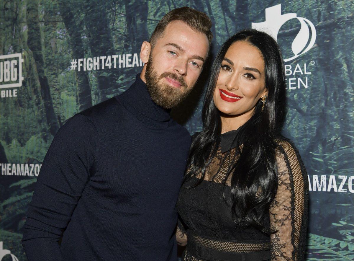 Artem Chigvintsev (L) and Nikki Bella