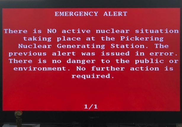No Emergency Nuclear Alert