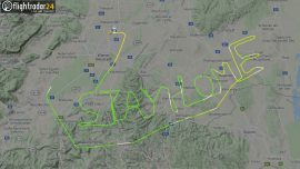 A Pilot Wrote a Coronavirus Message in the Sky—'Stay Home'