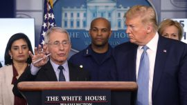 Trump Says He Has Good Relationship with Fauci, Denounces Navarro Op-Ed