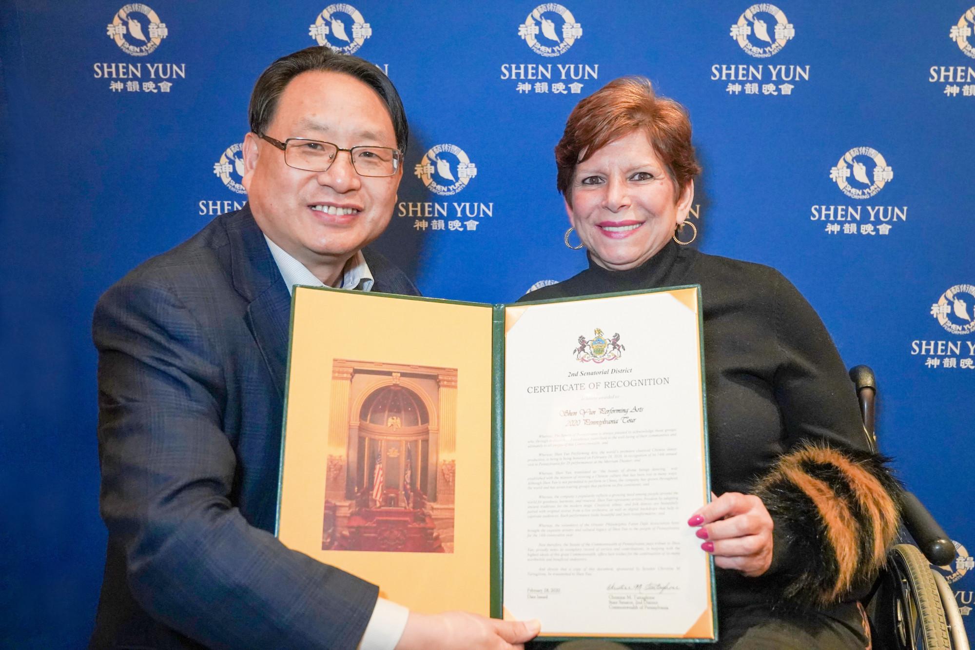 Pennsylvania State Senator: Shen Yun Gave Me Hope