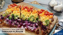 Cauliflower Crust Rainbow Pizza