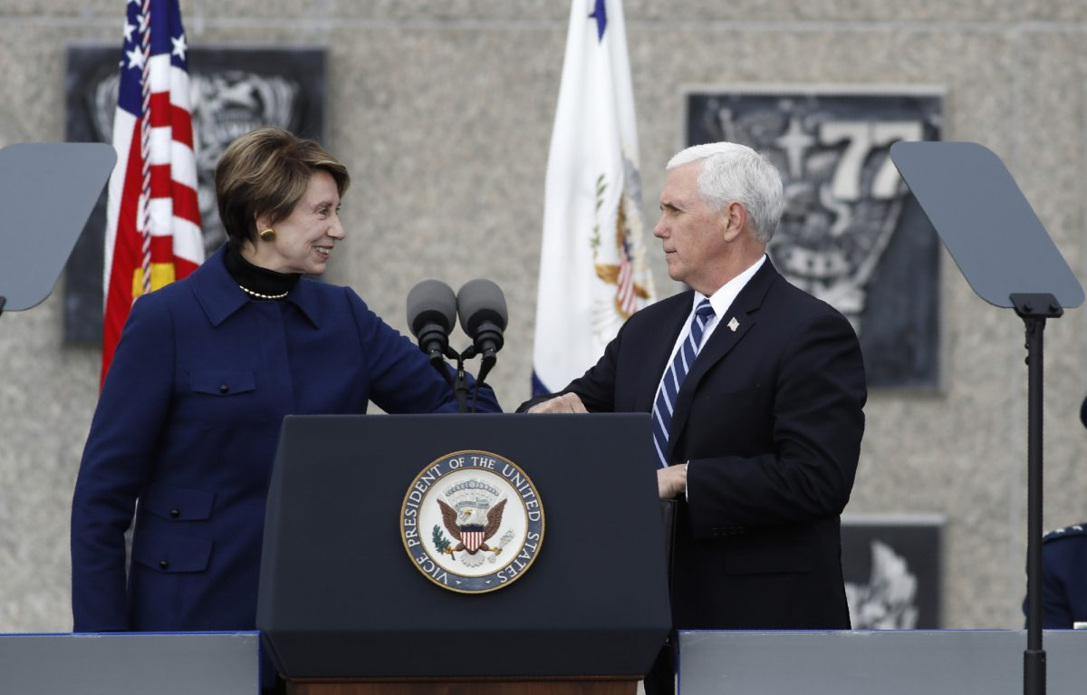 Secretary of the Air Force Barbara Barrett and Pence