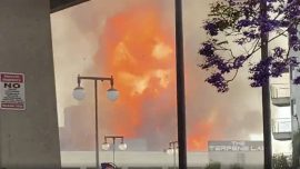 11 Firefighters Caught in Major Explosion in Downtown LA