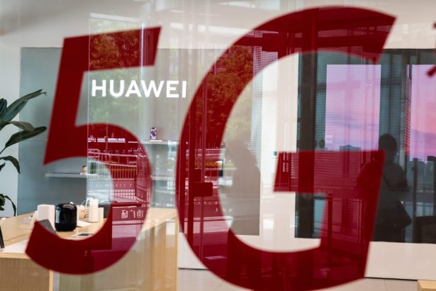 A shop for Chinese telecom giant Huawei