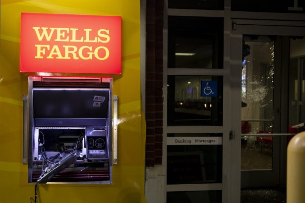 A broken ATM at a Wells Fargo Bank at Park West Town Center in West Phil.