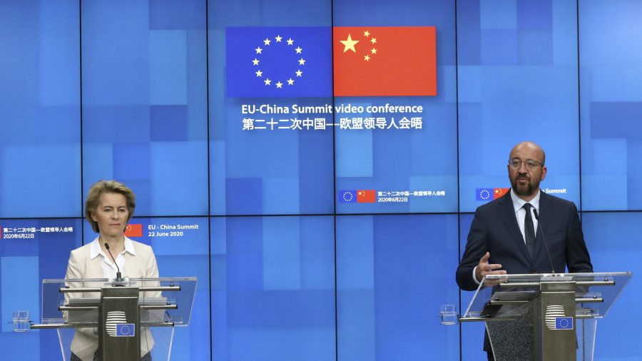 EU Presses China Over Trade, Human Rights