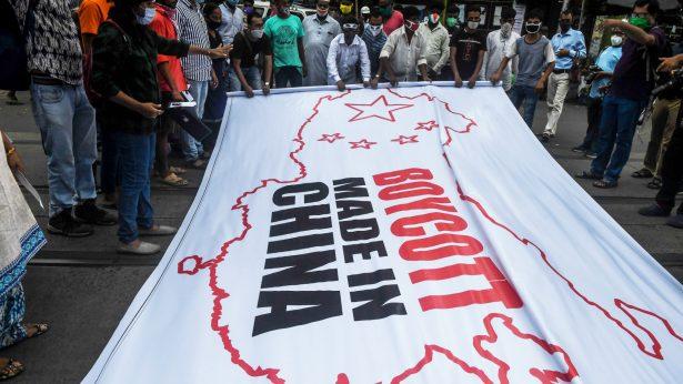 anti-China demonstration India 3
