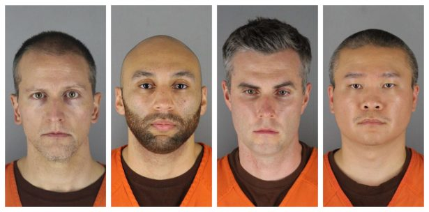 4 Minneapolis officers in mugshot