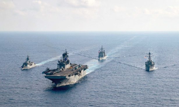 The Royal Australian Navy guided-missile frigate HMAS