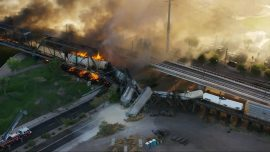 Arizona Train Derailment and Fire Described as 'A Scene From Hell'