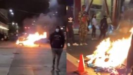 Seattle Rioters Break Into Businesses, Loot, and Set Fires
