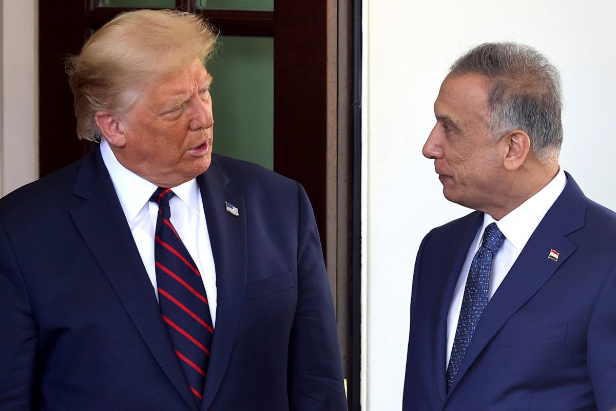 Trump (L) welcomes Iraqi Prime Minister