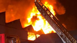 Hundreds of Philadelphia Firefighters Battle Six-Alarm Blaze at Warehouse Complex