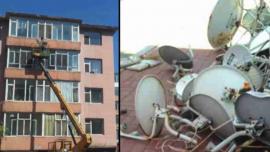 China Takes Down Satellite Dishes