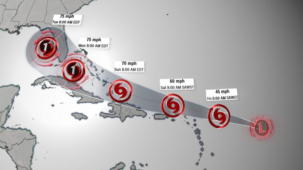 The first tropical system