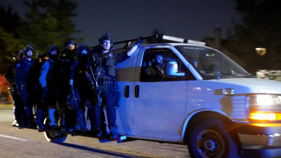 Rioters in Portland, Including 'Press,' Assault Police Officers