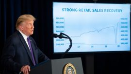 With Strong Retail Sales, Trump Touts V-Shaped Recovery