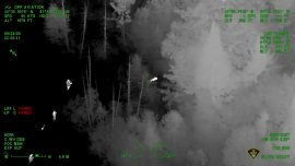 Canadian Boy Rescued by Police Using Night Vision From Helicopter