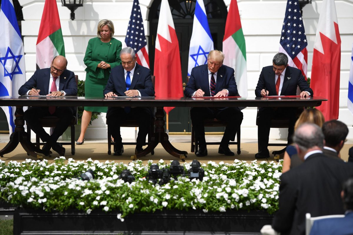 Trump, Middle East leaders sign deal