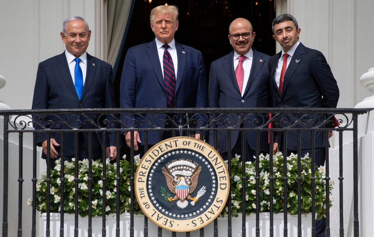 Netanyahu, Trump, Bahrain, UAE prime minister