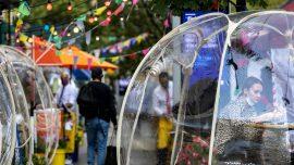 Space Bubbles Ease New York Restaurant Troubles