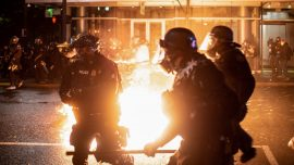 Portland Ends 2020 With Violence as Rioters Destroy Businesses and Throw Firebombs at Police