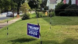 Electric Fence Deters Trump Sign Thieves
