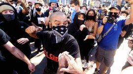 People Marching with Antifa Attack Conservatives at Rally Against Big Tech