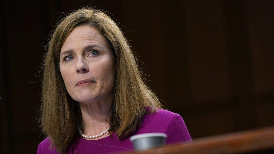 Barrett Tells Senate She Will Interpret Laws 'As They Are Written'