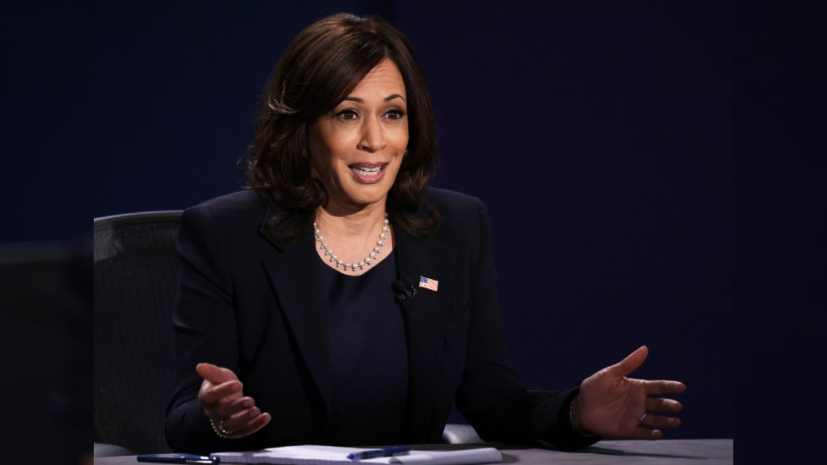 Democratic vice presidential nominee Sen. Kamala Harris