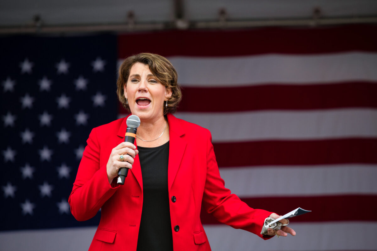 Amy McGrath Holds Campaign Rally In Louisville, Kentucky