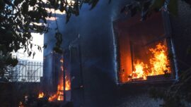 Officer Responding to Fire Finds Own Home Engulfed in Flames, Rescues His Entire Family