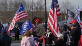 Crowd Gathers Outside Pennsylvania Hearing