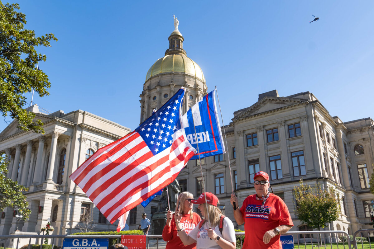 Trump Supporters Continue Election Protests At Georgia State House