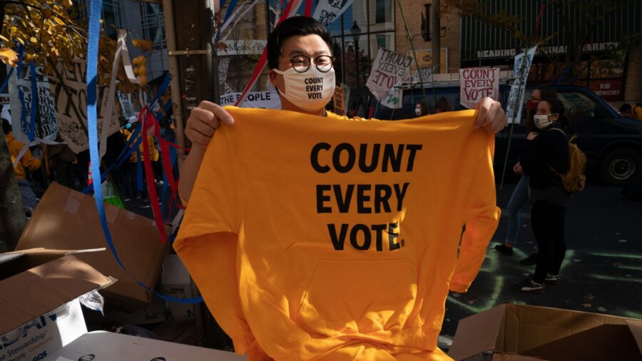Philadelphia Residents Call for Counting All Votes, or Counting All Legal Votes