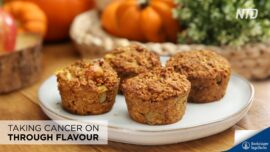 Apple & Pumpkin Oatmeal Muffins