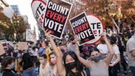 Opposing Sides Protest in Philadelphia