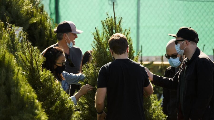 Los Angeles Residents Shop for Christmas Trees