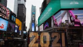 2021 Numerals Arrive in Times Square