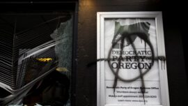 Antifa Attack Portland Democrat Party HQ