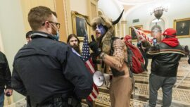 Feds Arrest Man in Horned Helmet Who Entered the Capitol During Jan. 6 Protest