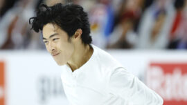 Four-Time Champ Chen Wins Short Program With Ease