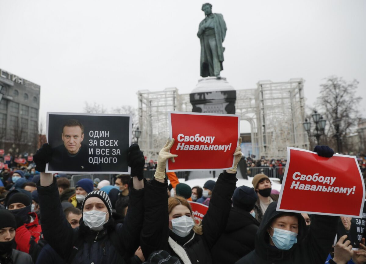 People Protesta in Moscow
