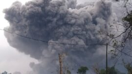 Semeru Volcano on Indonesia's Java Island Spews Hot Clouds